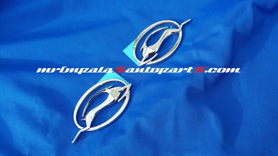 94-96 Chevy Impala SS Emblems Sail Panel New GM CHROME