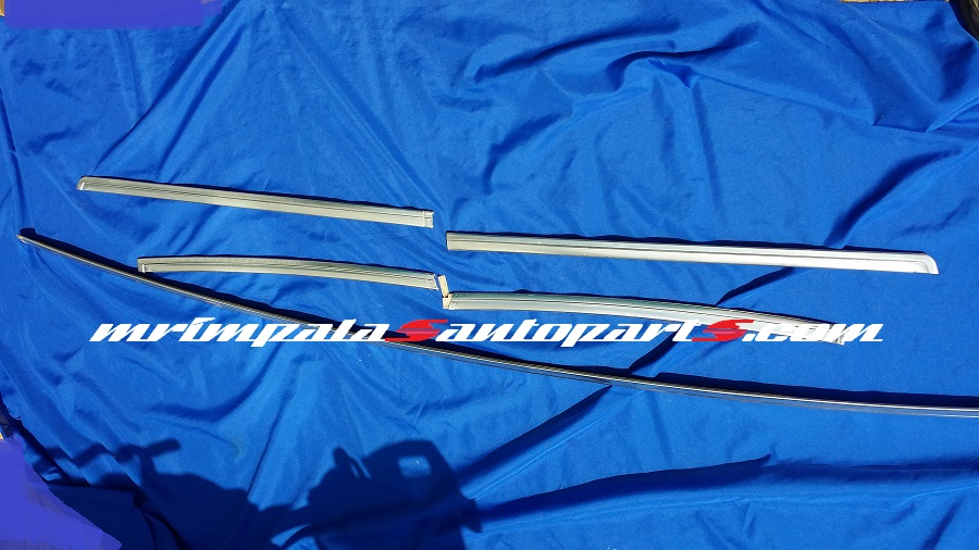 77 78 79 Chevy Impala Caprice Rear Window Molding 5pc Set - Click Image to Close