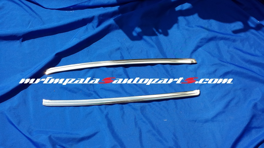 77 78 79 Chevy Impala Caprice Windshield Outer Trim Mouldings - Click Image to Close