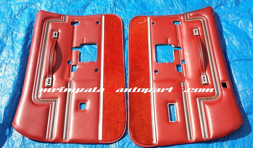 77-89 Buick Electra Chevy Caprice Impala Front Door Panels RED