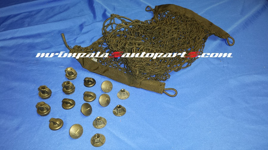 91-96 Caprice 94-96 Impala SS Trunk net & fasteners BLACK