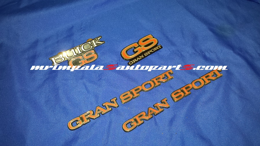 Buick GS Gran Sport 6pc Emblem Set