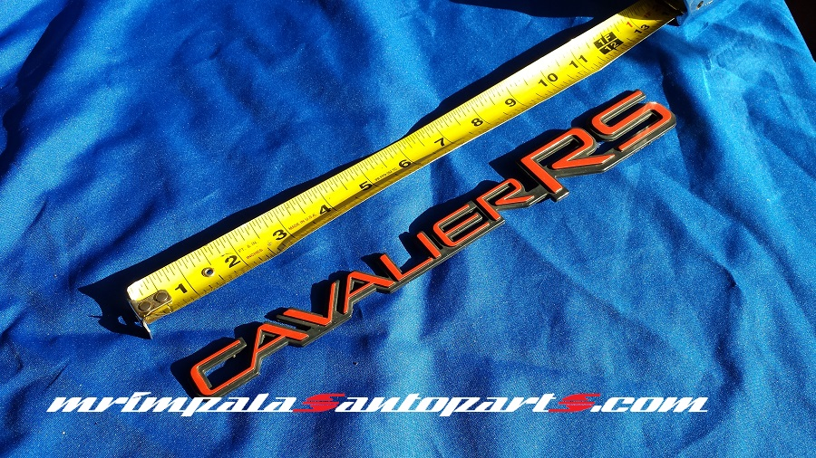 1991-94 Chevy Cavalier RS door emblem
