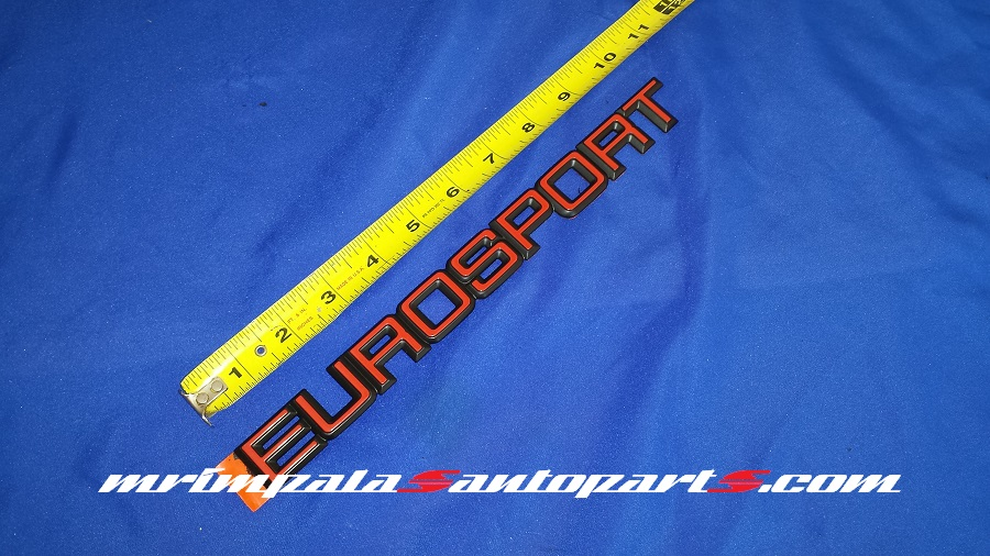 "85-90 Chevy Celebrity ""Eurosport"" trunk lid emblem NOS GM"