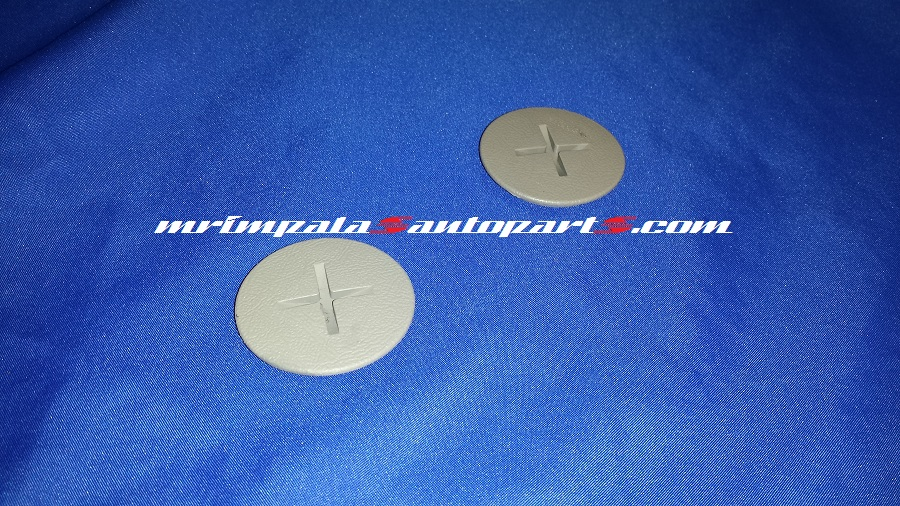 94-96 Caprice Impala SS 9C1 Inner Front Seat Belt Bolt Caps GRAY